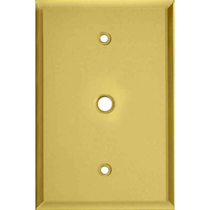 Glass Mirror Yellow Coax Cable TV Wall Plates