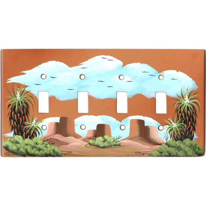 Yucca on Terra Cotta 4 - Toggle Light Switch Covers & Wall Plates