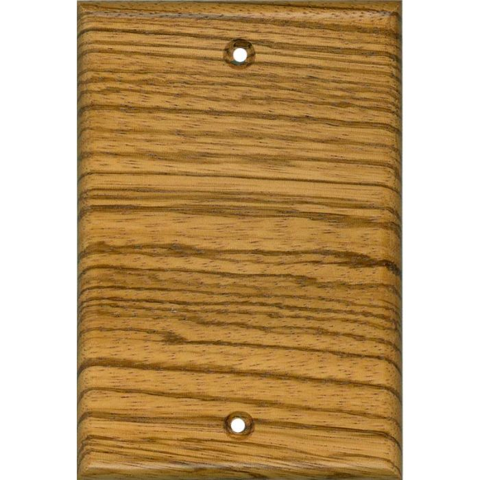 Zebrawood Satin Lacquer Blank Wall Plate Cover