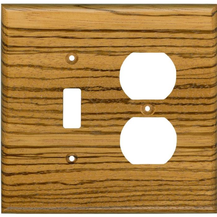 Zebrawood Satin Lacquer Combination 1 Toggle / Outlet Cover Plates