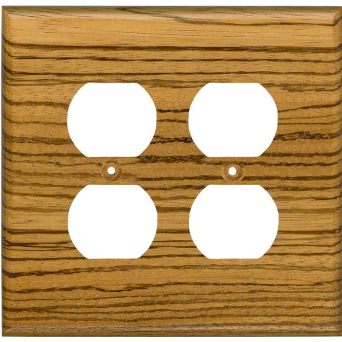 Zebrawood Satin Lacquer 2 Gang Duplex Outlet Wall Plate Cover