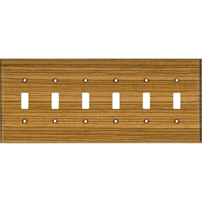 Zebrawood Satin Lacquer 6 Toggle Wall Plate Covers
