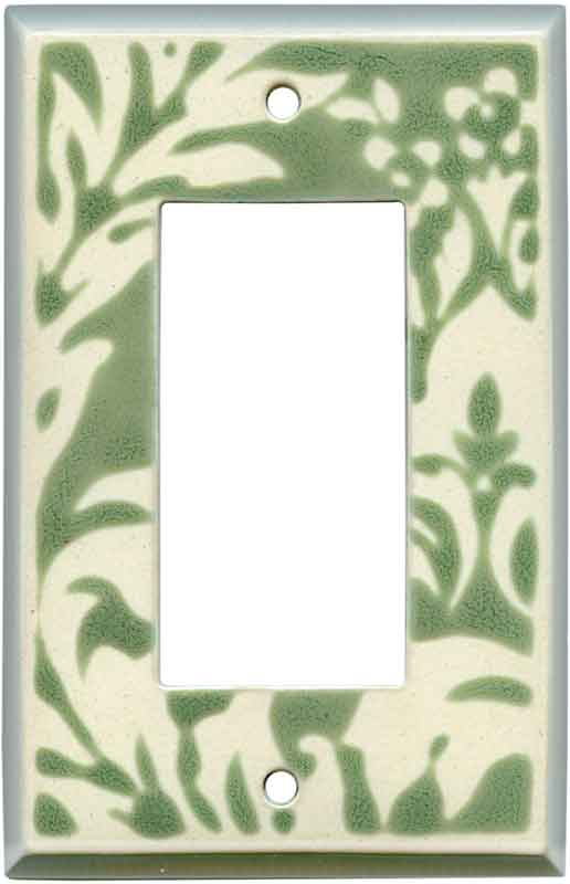 Damask Sage Ceramic Wall Plates Amp Outlet Covers