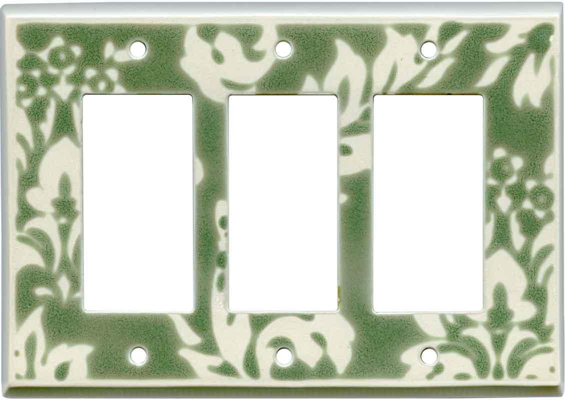 Damask Sage Ceramic3 - Rocker / GFCI Decora Switch Plate Cover