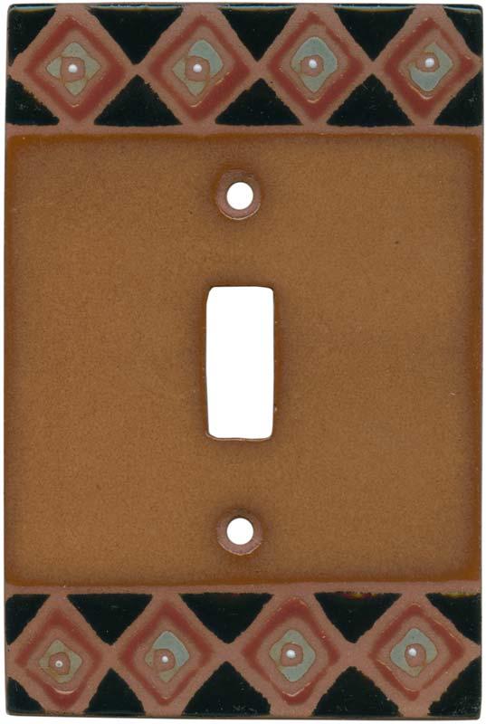 Diamond Border Single 1 Toggle Light Switch Plates