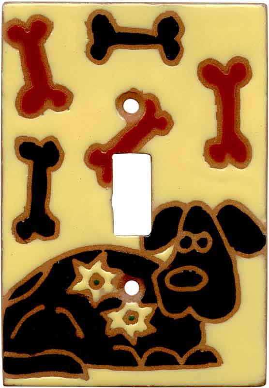 Dog and Bones Single 1 Toggle Light Switch Plates