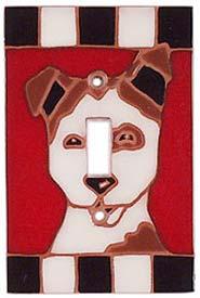 Dog Face - Single Toggle Switch Plates
