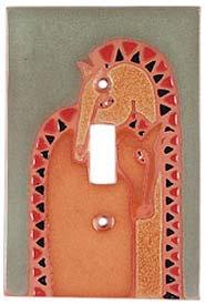 Double Horse Single 1 Toggle Light Switch Plates