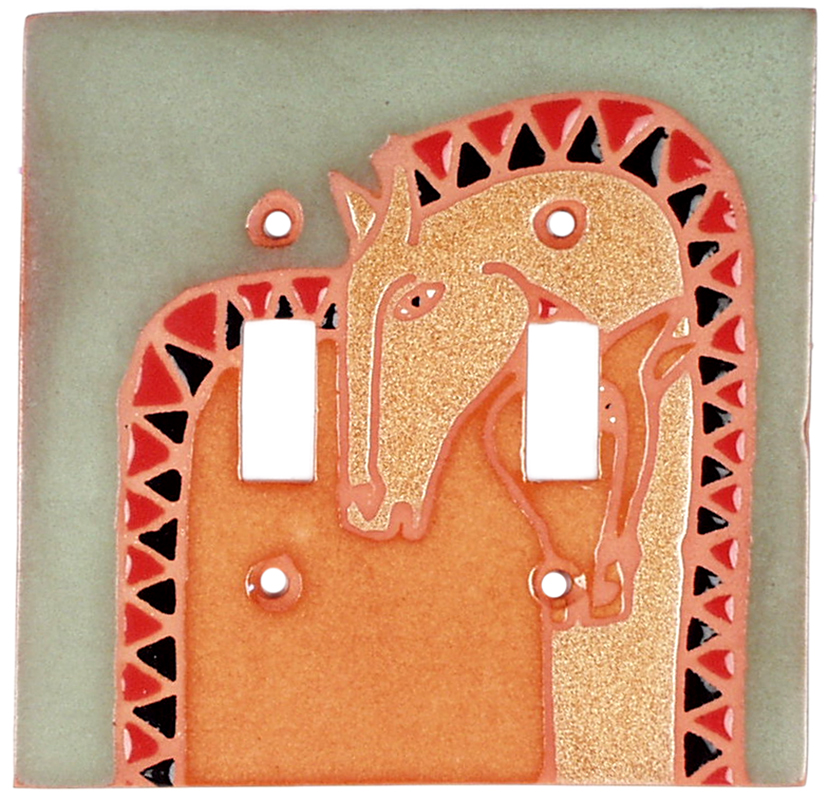 Double Horse - 2 Toggle Switch Plate Covers
