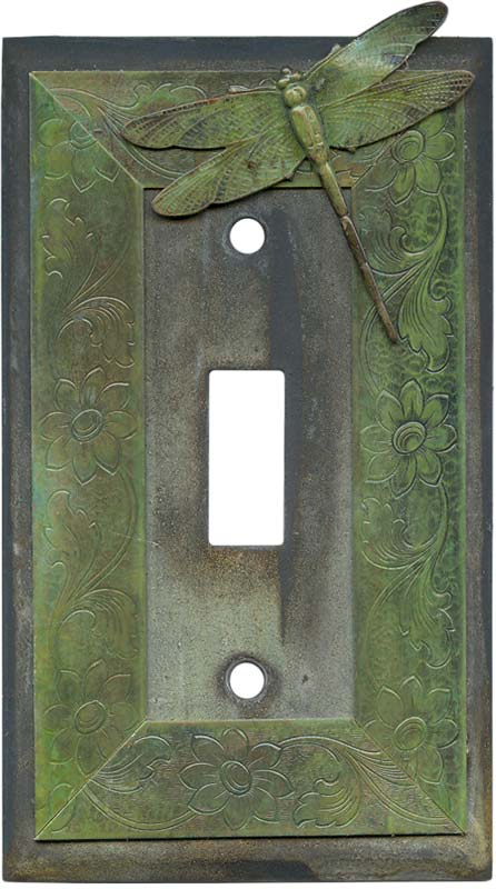 Dragonfly Single 1 Toggle Light Switch Plates
