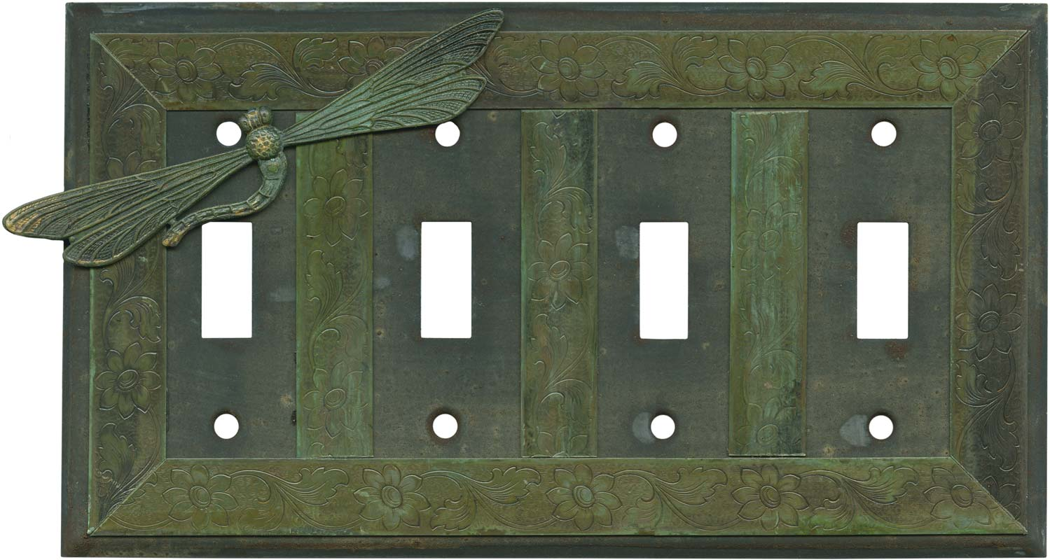 Dragonfly Quad 4 Toggle Light Switch Covers