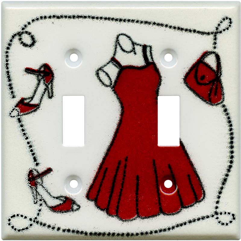 Dress and Shoes2 Toggle Switch Plates