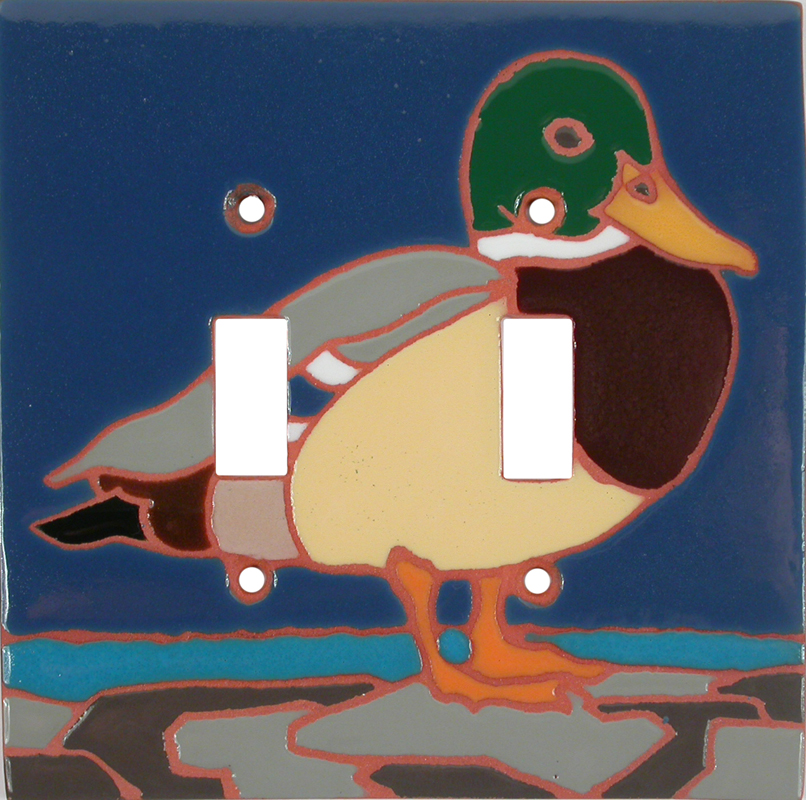 Duck Double 2 Toggle Switch Plate Covers