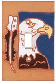 Eagle Feather Single 1 Toggle Light Switch Plates