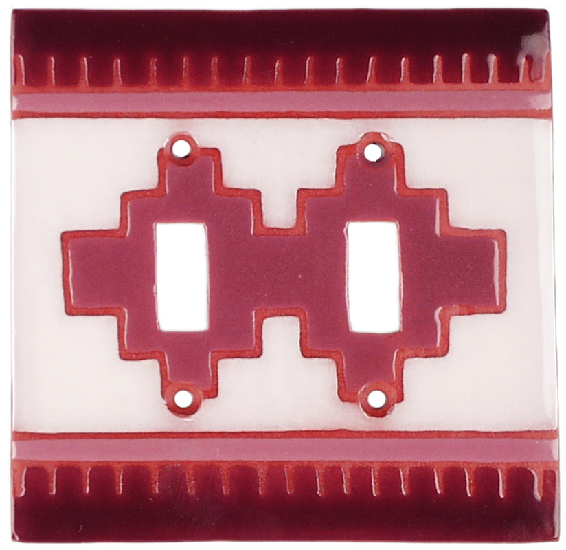 Earth Compasse Double 2 Toggle Switch Plate Covers