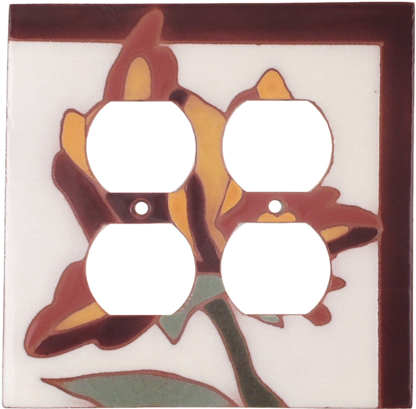 Flower 143 - 2 Gang Electrical Outlet Covers
