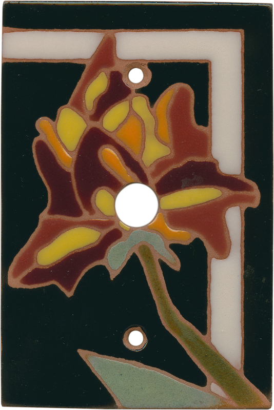 Flower 144 Coax Cable TV Wall Plates