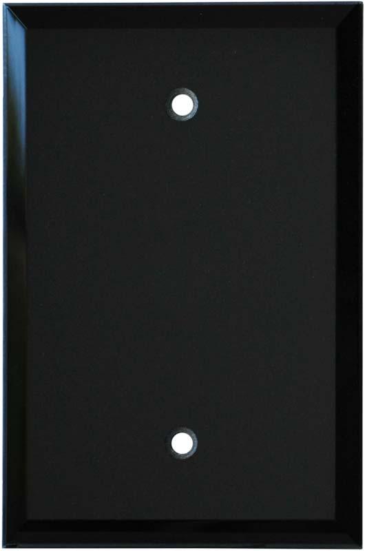 Glass Mirror Black 3-Toggle / 1-Duplex - Combination Wall Plates