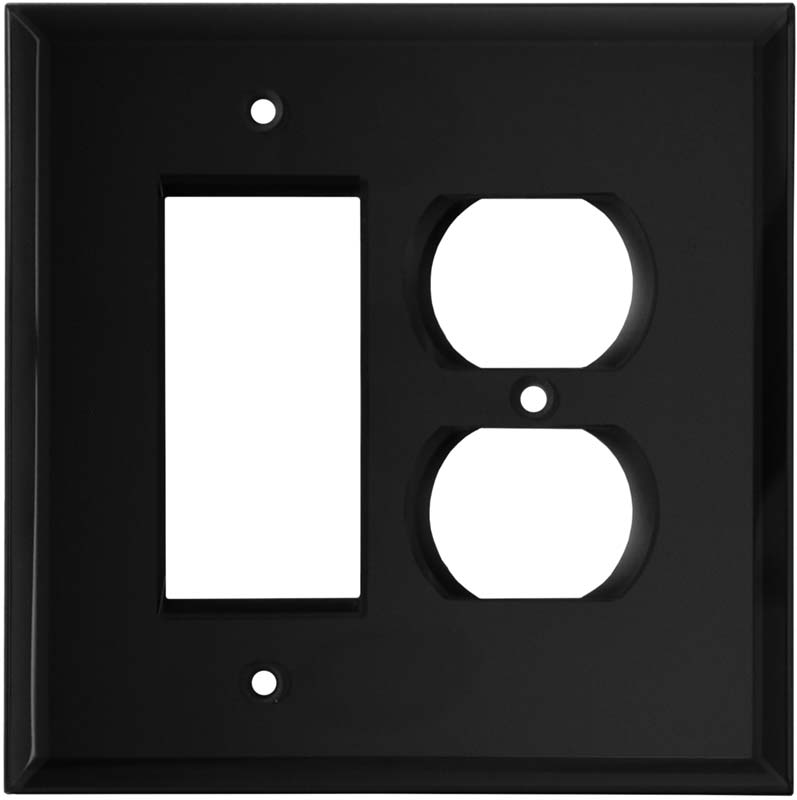 Glass Mirror Black 1 Toggle Light Switch Cover