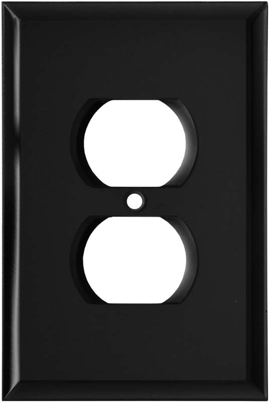 Glass Mirror Black 1 Toggle Wall Switch Plate - GFI Rocker Cover Combo
