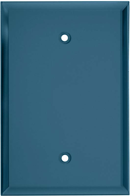 Glass Mirror Blue Tint 3-Toggle / 1-Duplex - Combination Wall Plates