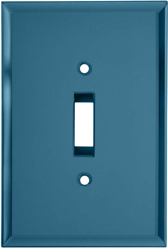 Glass Mirror Blue Tint - 1 Toggle Light Switch Plates