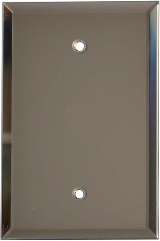 Glass Mirror Bronze Tint Blank Wall Plate Cover