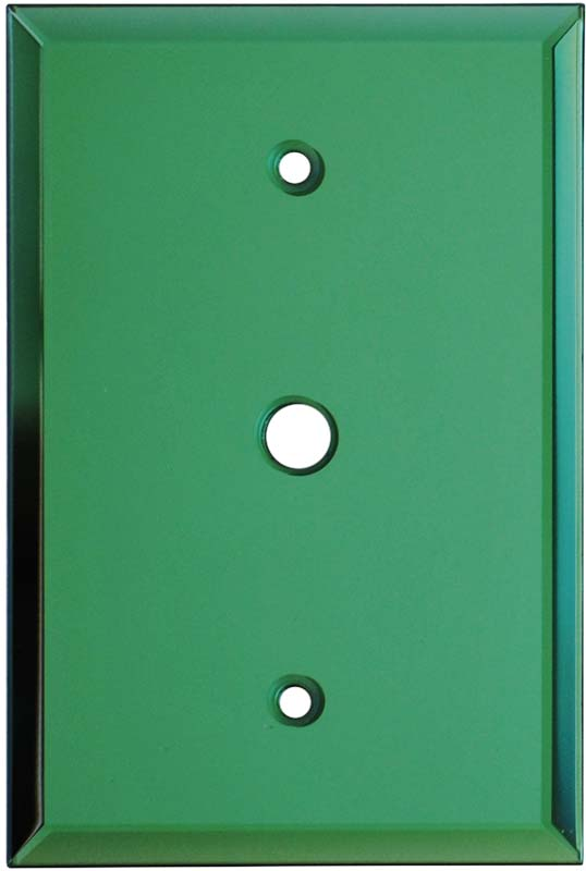 Glass Mirror Green Coax Cable TV Wall Plates