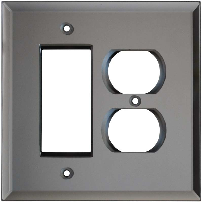 Glass Mirror Grey Tint 3 - Toggle Switch Plates