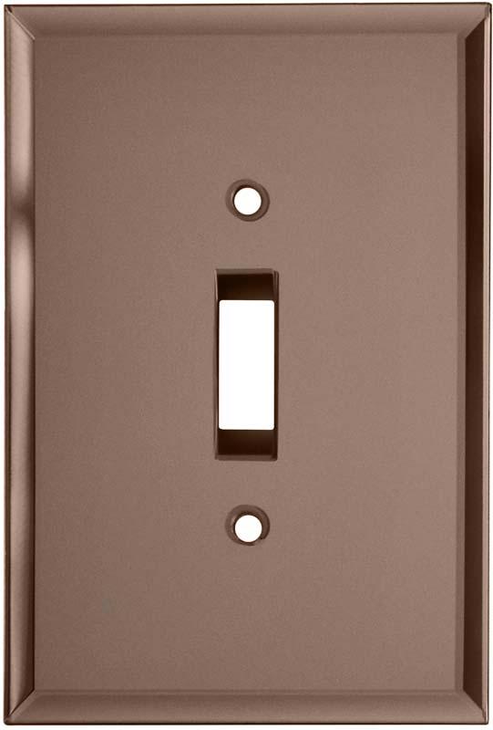 Glass Mirror Peach Single 1 Toggle Light Switch Plates