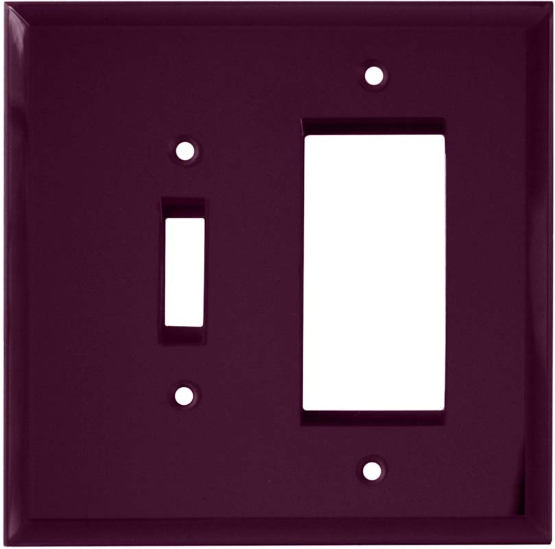Glass Mirror Purple - Combination 1 Toggle/Rocker Switch Covers