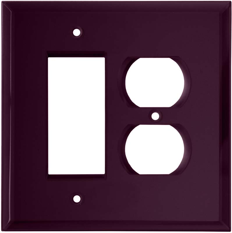 Glass Mirror Purple - GFCI Rocker/Duplex Outlet Wall Plates