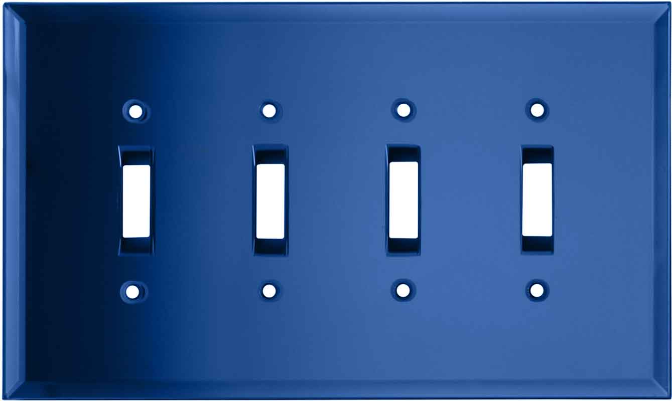 Glass Mirror Sky Blue 4 - Toggle Light Switch Covers & Wall Plates