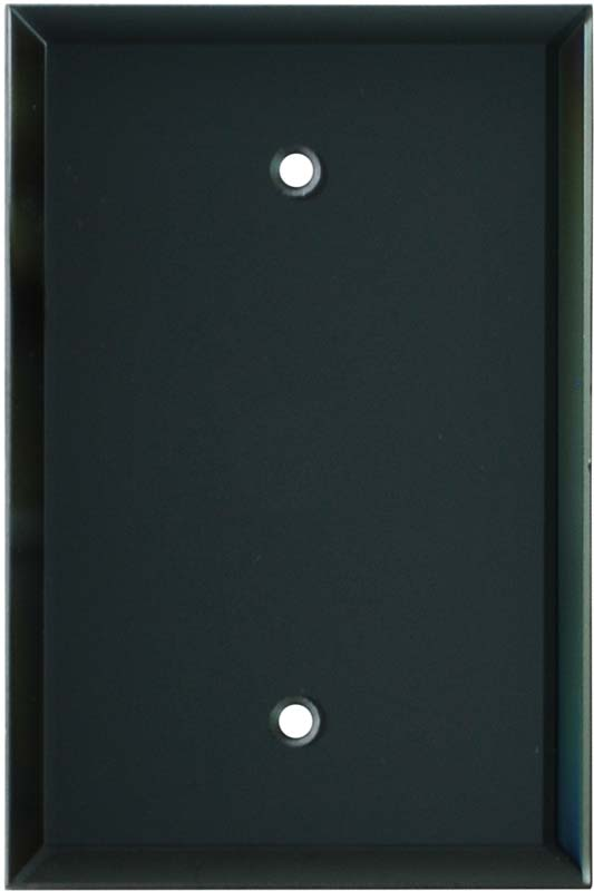 Glass Mirror Smoke Grey 1 Toggle Wall Switch Plate - GFI Rocker Cover Combo