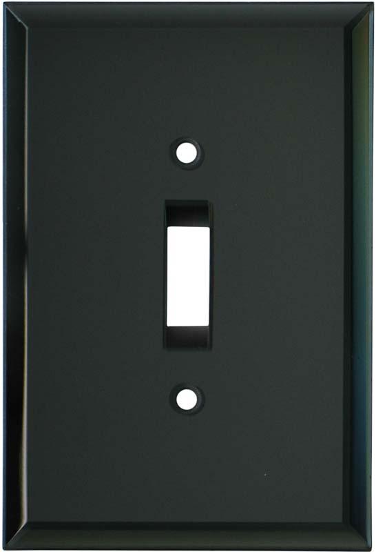 Glass Mirror Smoke Grey Single 1 Toggle Light Switch Plates