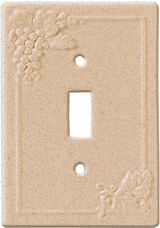 Grape Walnut 1 Toggle Wall Switch Plate - Outlet Cover Combination