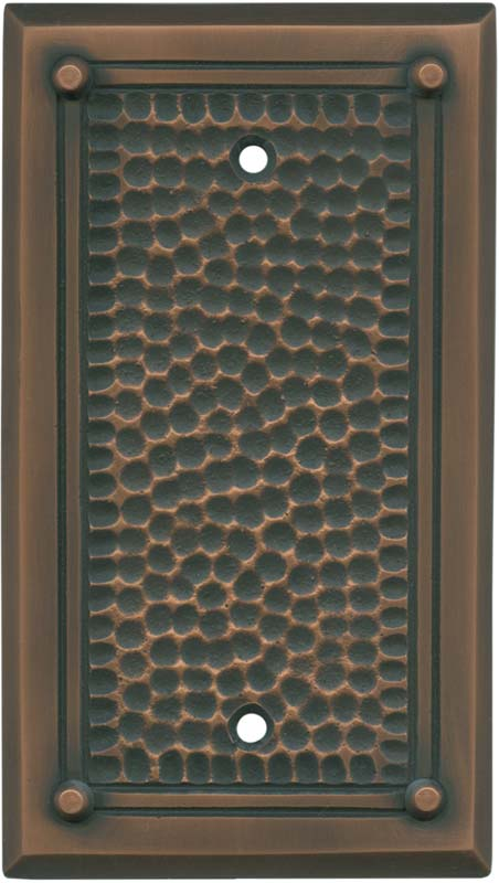 Hammered with Nails Antique Copper - Blank Wall Plates