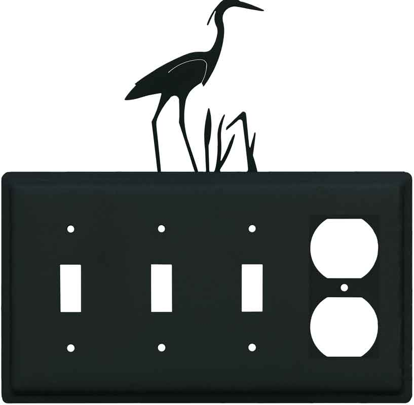 Heron Combination Triple 3 Toggle / Outlet Wall Plate Covers
