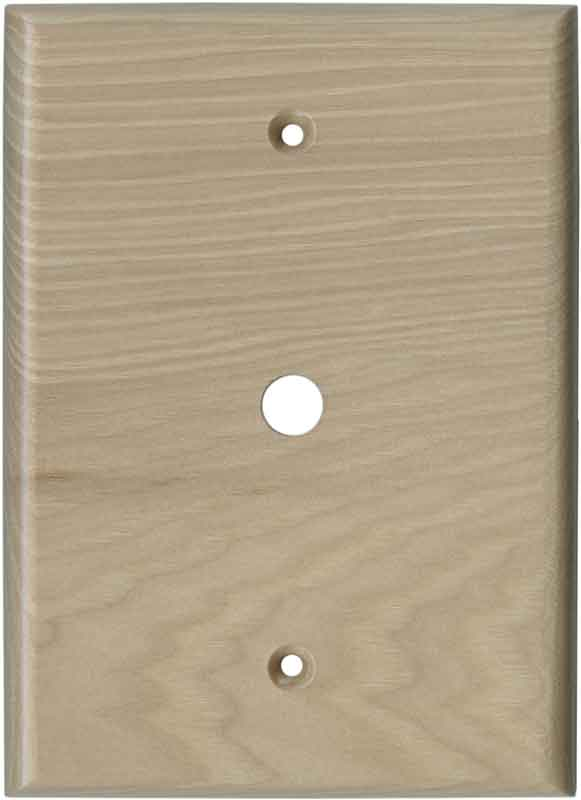 Hickory Unfinished - Cable Wall Plates