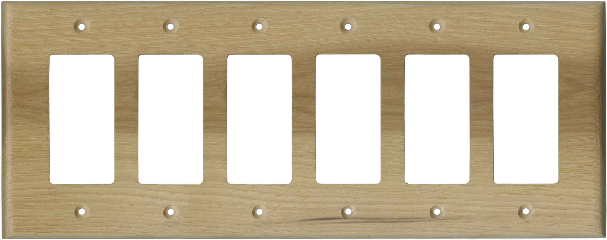 Hickory Unfinished 6 GFCI Rocker Decora Switch Covers
