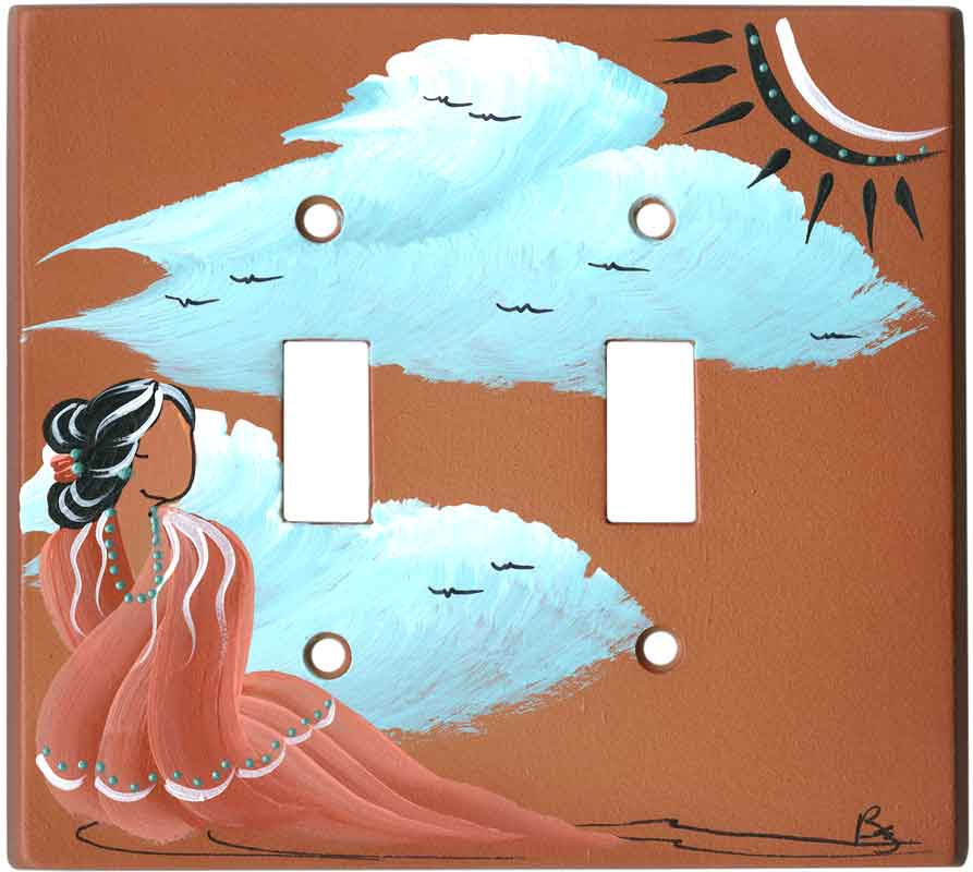 Indian Maiden on Terra Cotta
