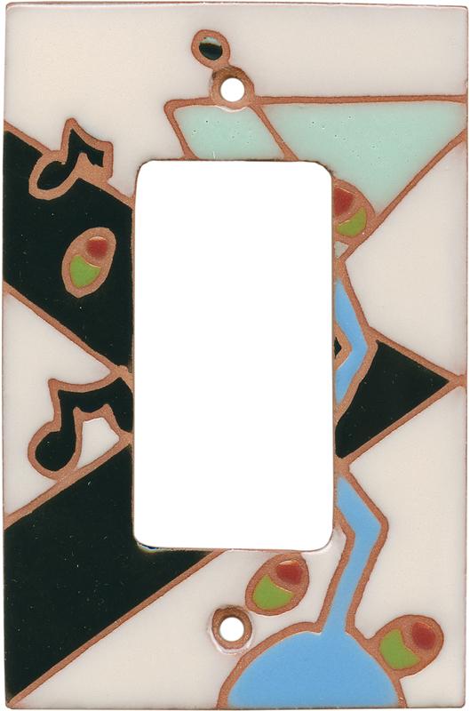 Jazzy Martini Single 1 Gang GFCI Rocker Decora Switch Plate Cover