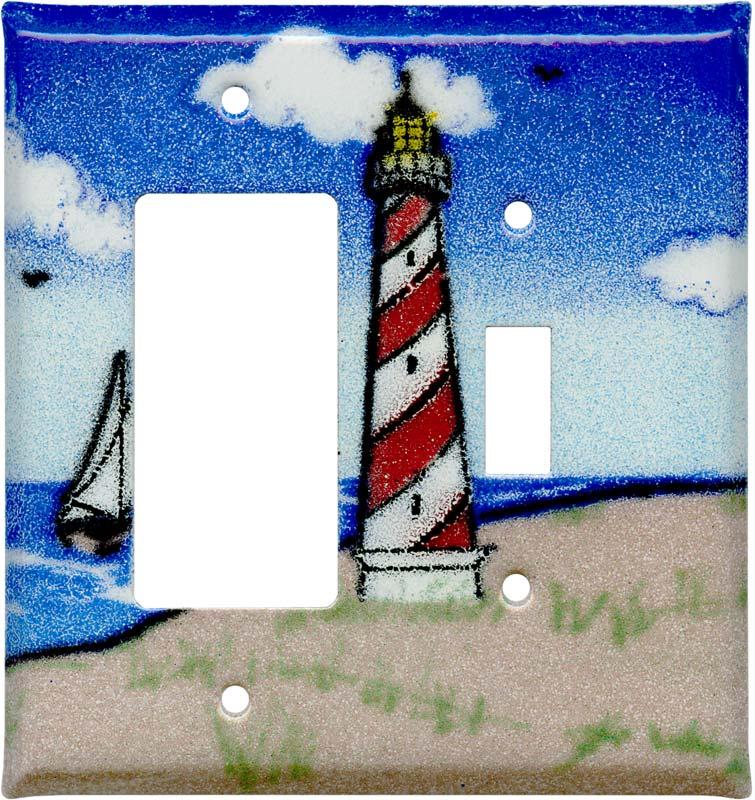 Lighthouse - Beach 1-Gang GFCI Decorator Rocker Switch Plate Cover