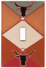 Longhorn DiamondSingle 1 Toggle Light Switch Plates