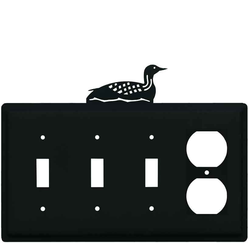 Loon Combination Triple 3 Toggle / Outlet Wall Plate Covers