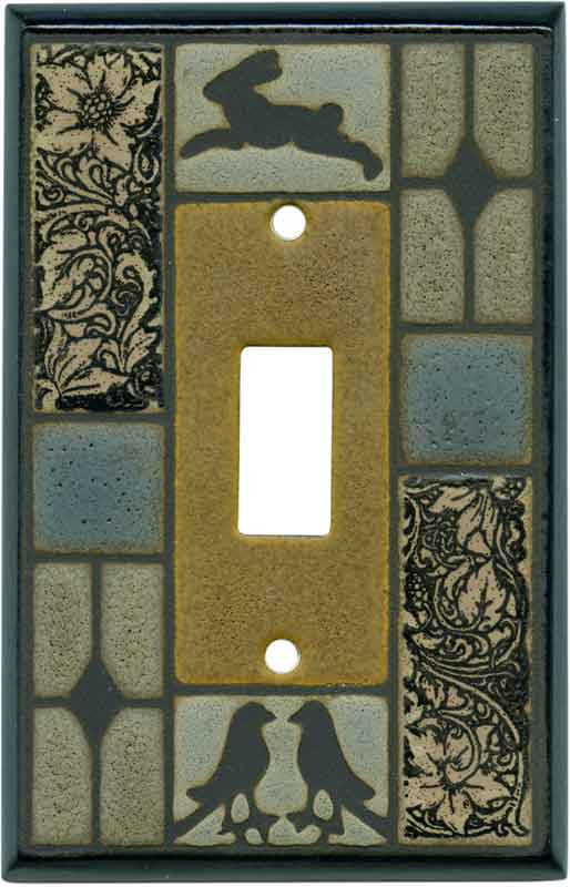 PEWTER ELEPHANT SILVER METAL LIGHT SWITCH PLATE COVER