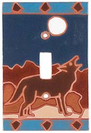 Moonlight Coyote Single 1 Toggle Light Switch Plates
