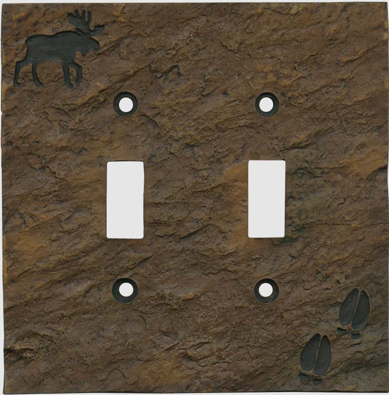 Moose and Tracks 2 Toggle Switch Plates