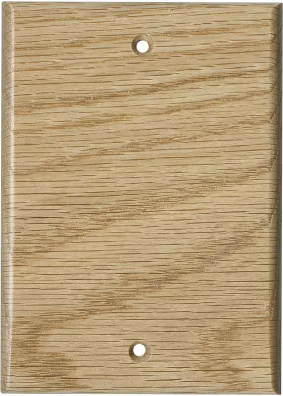 Oak Red Unfinished Blank Wall Plate Cover