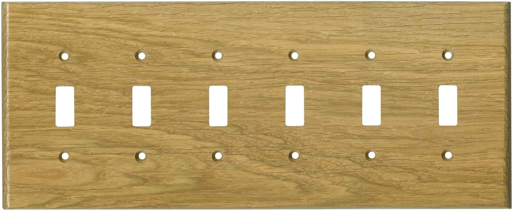 Oak White Satin Lacquer 6 Toggle Wall Plate Covers